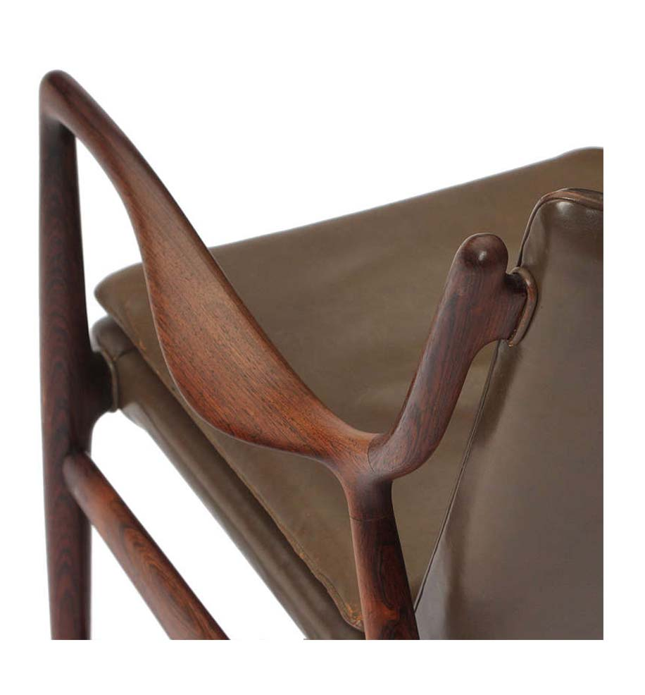 45 Chair detail in Olive - Finn Juhl